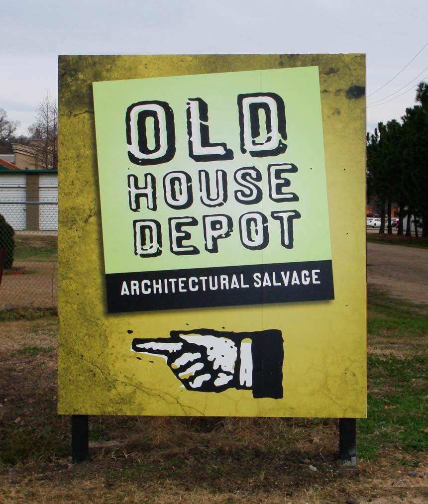 Wayfinding signage for Old House Depot